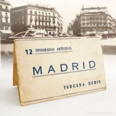Postales: MADRID MINI CARPETILLA 8 FOTOS. 10X6CM. Lote 180025777