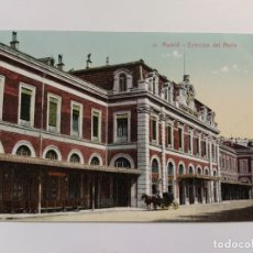 Postales: MADRID-ESTACION FERROCARRIL DEL NORTE-VER REVERSO-(63.222). Lote 180027190