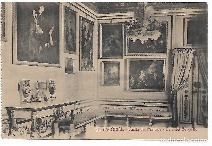 EL ESCORIAL - CASITA DEL PRINCIPE - SALA DEL BARQUILLO - FOTOTIPIA CASTAÑEIRA - MADRID - (Postales - España - Comunidad de Madrid Antigua (hasta 1939))