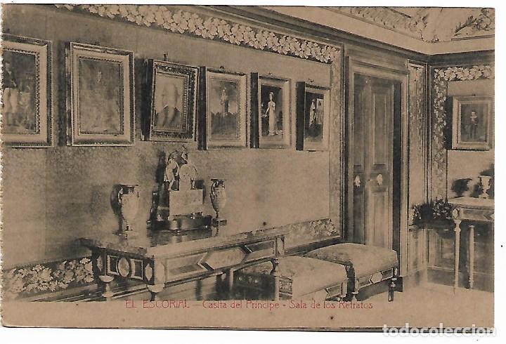 EL ESCORIAL - CASITA DEL PRINCIPE - SALA DE LOS RETRATOS - FOTOTIPIA CASTAÑEIRA - MADRID - (Postales - España - Comunidad de Madrid Antigua (hasta 1939))