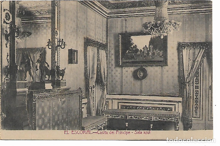 EL ESCORIAL - CASITA DEL PRINCIPE - SALA AZUL - FOTOTIPIA CASTAÑEIRA - MADRID - (Postales - España - Comunidad de Madrid Antigua (hasta 1939))