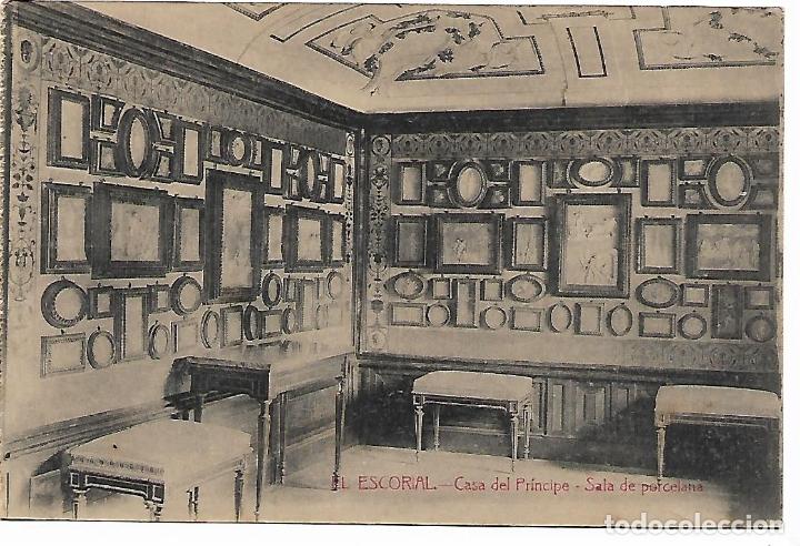 EL ESCORIAL - CASITA DEL PRINCIPE - SALA DE PORCELANA - FOTOTIPIA CASTAÑEIRA - MADRID - (Postales - España - Comunidad de Madrid Antigua (hasta 1939))