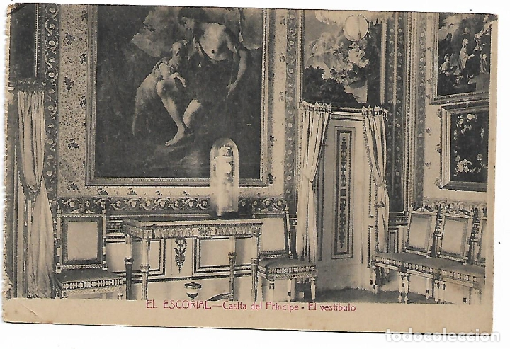 EL ESCORIAL - CASITA DEL PRINCIPE - EL VESTIBULO - FOTOTIPIA CASTAÑEIRA - MADRID - (Postales - España - Comunidad de Madrid Antigua (hasta 1939))