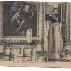 Postales: EL ESCORIAL - CASITA DEL PRINCIPE - EL VESTIBULO - FOTOTIPIA CASTAÑEIRA - MADRID -. Lote 180122596