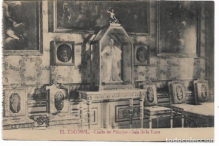 EL ESCORIAL - CASITA DEL PRINCIPE - SALA DE LA TORRE - FOTOTIPIA CASTAÑEIRA - MADRID - (Postales - España - Comunidad de Madrid Antigua (hasta 1939))