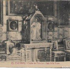 Postales: EL ESCORIAL - CASITA DEL PRINCIPE - SALA DE LA TORRE - FOTOTIPIA CASTAÑEIRA - MADRID -. Lote 180122907