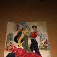 Postales: POSTAL ALCALÁ MADRID , PRINTED IN SPAIN , BAILE FLAMENCO. Lote 180272707