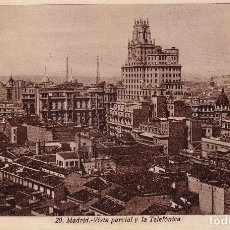 Postales: MADRID - VISTA PARCIAL Y LA TELEFÓNICA (Nº 20). Lote 180476572