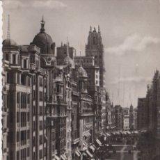 Postais: MADRID, GRAN VIA, DETALLE - POSTALES BEA - ESCRITA 1951. Lote 182619276