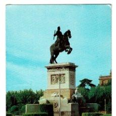 Postales: MADRID MONUMENTO FELIPE IV PLAZA DE ORIENTE - POSTALES CEME Nº 107 -CIRCULADA SELLO TIEDE 1 PESETA. Lote 182632928