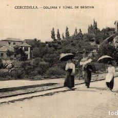Postales: CERCEDILLA (MADRID).- COLONIA Y TUNEL DE SEGOVIA. Lote 182688178