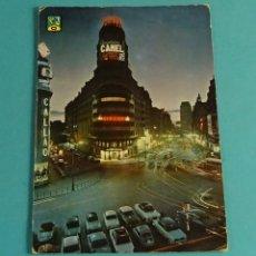 Postales: MADRID. AVENIDA JOSÉ ANTONIO, VISTA NOCTURNA. EDITA DOMÍNGUEZ. Lote 183355622