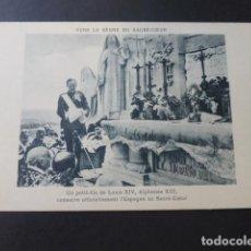 Postales: GETAFE MADRID CERRO DE LOS ANGELES ALFONSO XIII INAUGURANDO EL MONUMENTO AL SAGRADO CORAZON. Lote 183439336