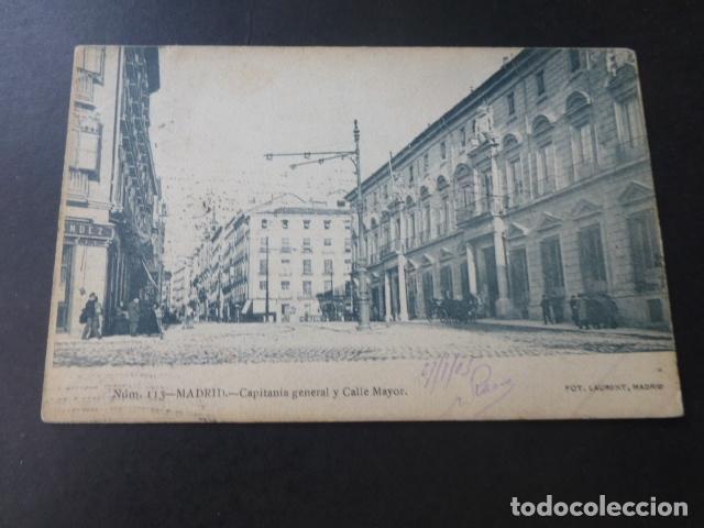 MADRID CAPITANIA GENERAL Y CALLE MAYOR (Postales - España - Comunidad de Madrid Antigua (hasta 1939))