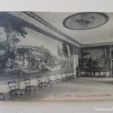 Postales: PALACIO COMEDOR DE LOS REYES MONASTERIO DE EL ESCORIAL MADRID. Lote 183481430