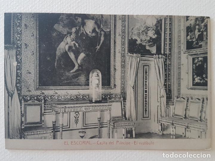 CASITA DEL PRINCIPE VESTIBULO EL ESCORIAL MADRID (Postales - España - Comunidad de Madrid Antigua (hasta 1939))