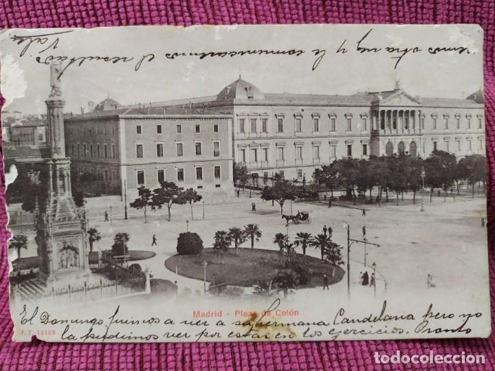 PLAZA COLÓN, MADRID. UNION POSTAL UNIVERSAL. (Postales - España - Comunidad de Madrid Antigua (hasta 1939))