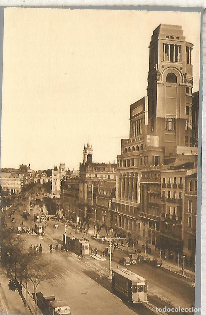 MADRID CALLE ALCALA TRANVIA TRAMWAY SIN ESCRIBIR (Postales - España - Comunidad de Madrid Antigua (hasta 1939))