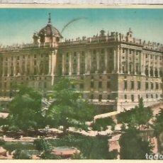 Postales: MADRID PALACIO REAL ESCRITA. Lote 183582796