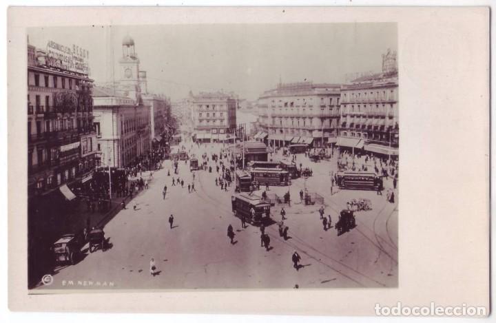 MADRID: PUERTA DEL SOL. HISPANIC SOCIETY OF AMERICA (AÑOS 20) (Postales - España - Comunidad de Madrid Antigua (hasta 1939))