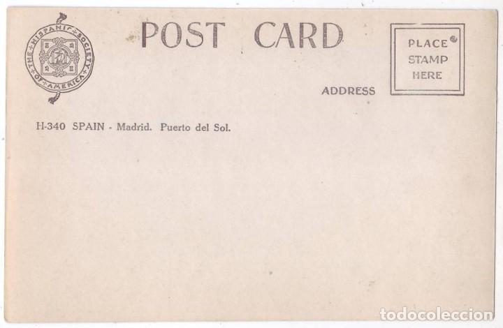 Postales: Madrid: Puerta del Sol. Hispanic Society of America (Años 20) - Foto 2 - 183604672