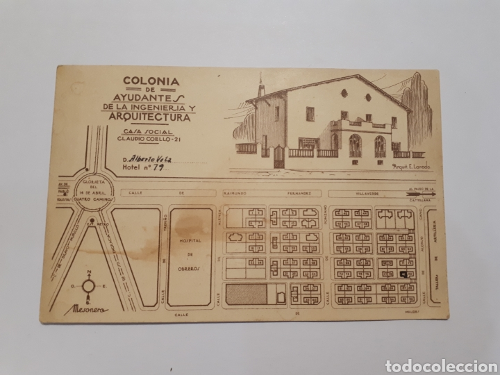 COLONIA DE AYUDANTES DE LA INGENIERÍA Y ARQUITECTURA (Postales - España - Comunidad de Madrid Antigua (hasta 1939))