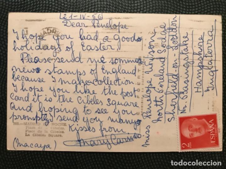 Postales: Fotografica madrid de noche 505 plaza de la cibeles postal foto e fuertes madrid nocturno 1956 - Foto 2 - 183620581