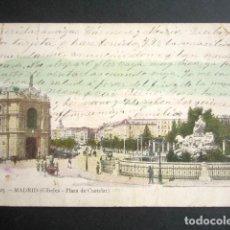 Postales: POSTAL MADRID. CIBELES. PLAZA DE CASTELAR. PRIMERA EDICIÓN. . Lote 183817920