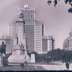 Postales: POSTAL MADRID - EDIFICIO ESPAÑA - ARRIBAS - QUIJOTE. Lote 184331701