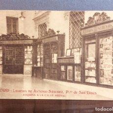 Postales: MADRID LIBRERÍA DE A. SÁNCHEZ, PASADIZO DE SAN GINÉS EDITADA POR PROPIA LIBRERIA SIN CIRCULAR. Lote 184620751