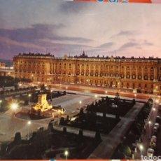 Postales: POSTAL PLAZA DE ORIENTE Y PALACIO REAL MADRID. Lote 185292261