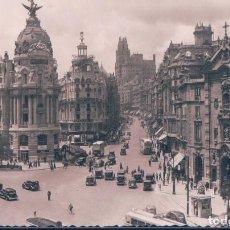 Postales: POSTAL MADRID - CALLE DE ALCALA Y AVENIDA DE JOSE ANTONIO - MOLINA . Lote 185688260