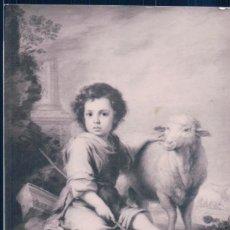 Postales: POSTAL MURILLO - EL NIÑO DE DIOS PASTOR - MUSEO DEL PRADO - HAUSER Y MENET. Lote 185898020