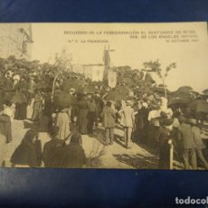 Postales: RECUERDO DE LA PEREGRINACIÓN AL SANTUARIO LOS ÁNGELES. GETAFE. N° 6 LA PROCESIÓN. . MADRID... Lote 185996286