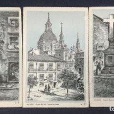Postales: MADRID N° 2,7 Y 8-ARCO DE CUCHILLEROS - PLAZA LAS COMENDADORAS - PUERTA CERRADA - MANUALES ESPAÑOLAS. Lote 187157623