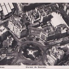 Postales: MADRID - GLORIETA DE QUEVEDO - VISTA AEREA. Lote 187406006