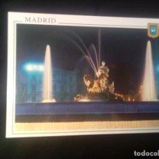 Postales: POSTAL MADRID LA CIBELES VISTA NOCTURNA SIN CIRCULAR. Lote 189625830
