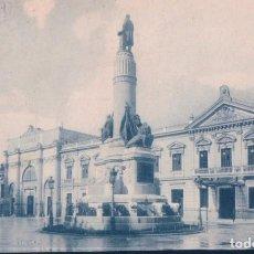 Postales: POSTAL MADRID - MONUMENTO A CANOVAS DEL CASTILLO Y PALACIO DEL SENADO - CIRCULADA SELLO ALFONSO XIII. Lote 189762092