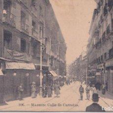 Postales: MADRID - CALLE DE CARRETAS. Lote 189980191