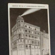 Postales: MADRID-EDIFICIO DE LA CIA D'ASSURANCES...-COMPAÑIA DE SEGUROS-POSTAL PUBLICIDAD ANTIGUA-(65.867). Lote 190170837