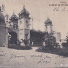 Postales: MADRID - CASINO DE MADRID - TERRAZA. Lote 190185460