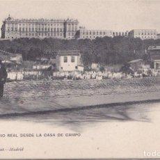 Postales: MADRID - PALACIO REAL DESDE LA CASA DE CAMPO. Lote 190185567