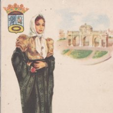 Postales: MADRID - MADRILEÑA CON VESTIDO TIPICO. Lote 190185796