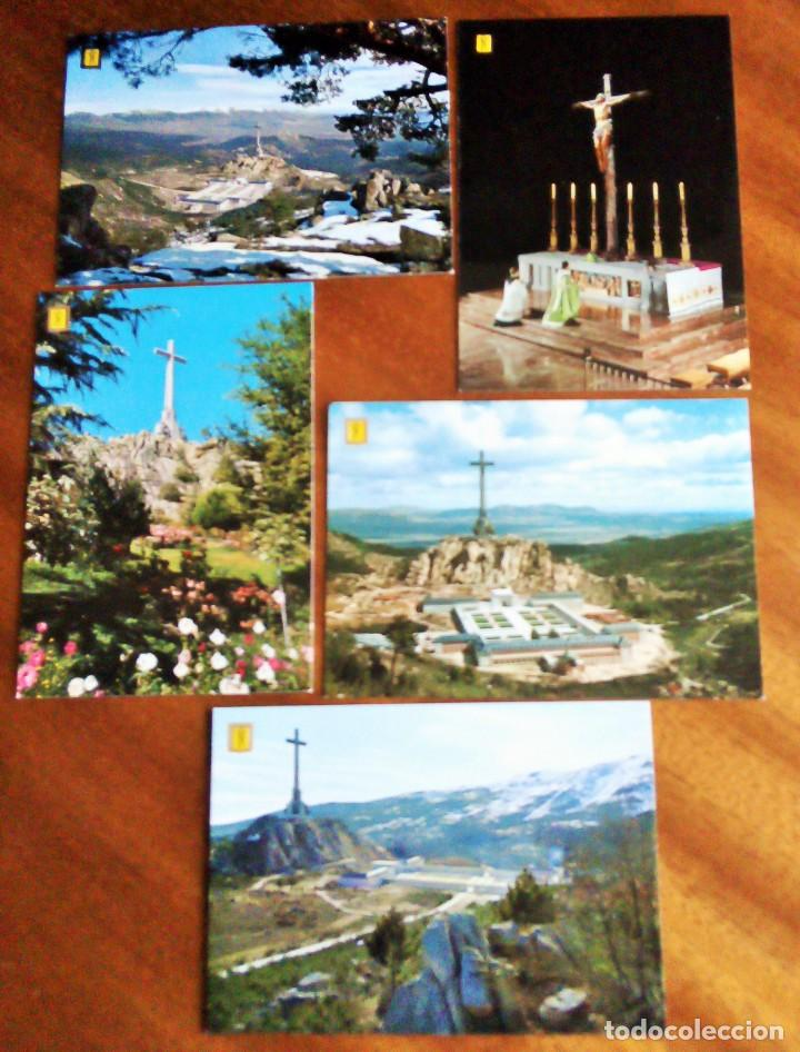 SANTA CRUZ DEL VALLE DE LOS CAÍDOS. MADRID. 5 POSTALES. SIN CIRCULAR (Postales - España - Madrid Moderna (desde 1940))