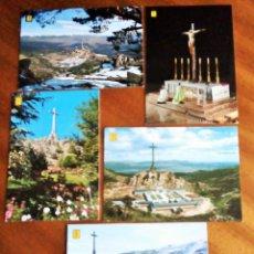 Postales: SANTA CRUZ DEL VALLE DE LOS CAÍDOS. MADRID. 5 POSTALES. SIN CIRCULAR. Lote 190584005
