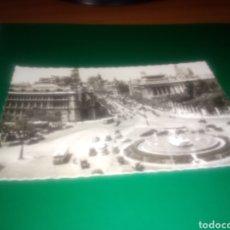Postales: ANTIGUA POSTAL DE MADRID. PLAZA CIBELES Y CALLE DE ALCALÁ. EDITORIAL GARCÍA GARRABELLA DE ZARAGOZA. Lote 190594750