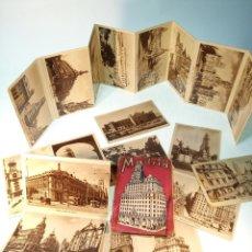 Postales: GRAN COLECCIÓN DE 21 POSTALES ANTIGUAS DE MADRID. HGE. SIN CIRCULAR EN CARPETILLA.. Lote 190852973