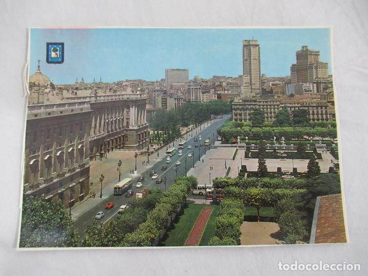 MADRID - PALACIO REAL Y EDIFICIOS PLAZA DE ESPAÑA - S/C (Postales - España - Madrid Moderna (desde 1940))