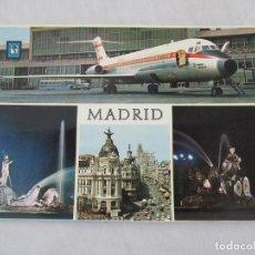 Postales: MADRID - AEROPUERTO DE BARAJAS, FUNETE DE NEPTUNO, CALLE ALCALÁ, LA CIBELES - S/C. Lote 190925638