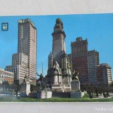 Postales: MADRID - PLAZA DE ESPAÑA. MONUMENTO A CERVANTES - S/C. Lote 190978317